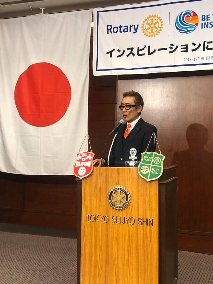 東京成城新ロータリークラブで講演